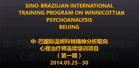 Sino-Brazilian Trainning Course in Winnicottian Psychoanalysis in Beijing